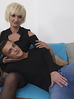 Horny housewife having the time of her life with her toy boy