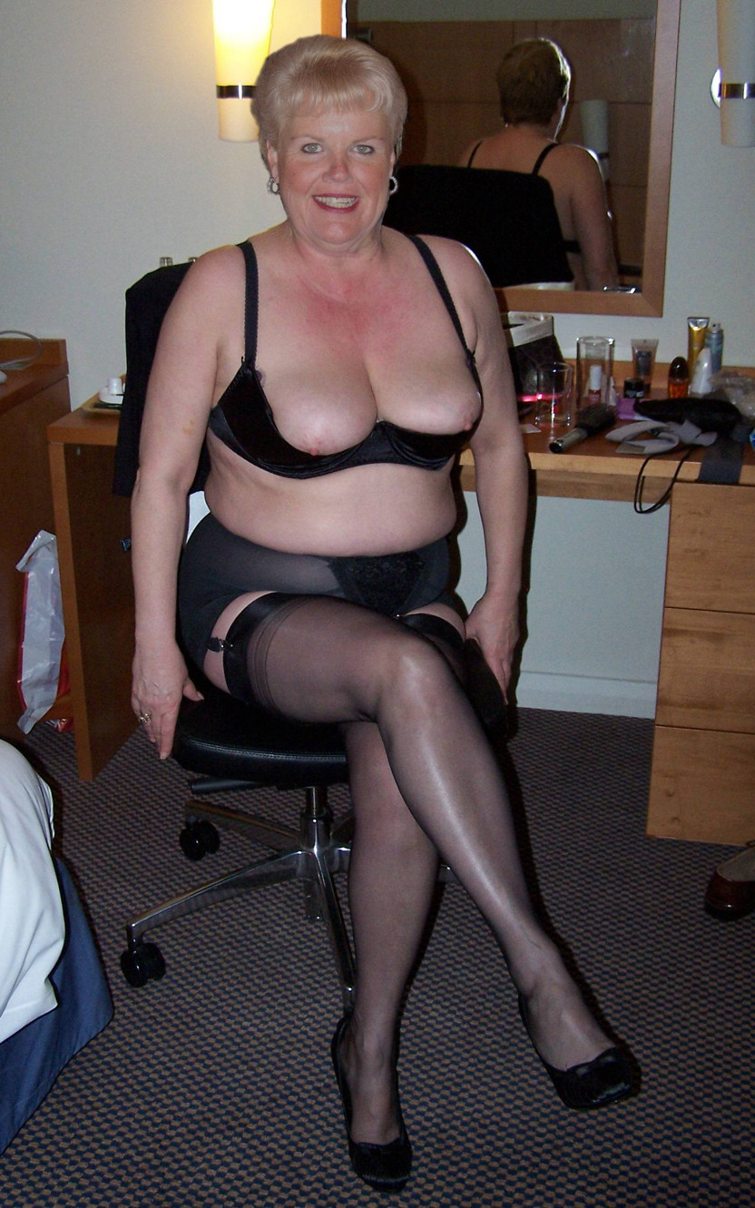 Can ask? Mature granny in stockings